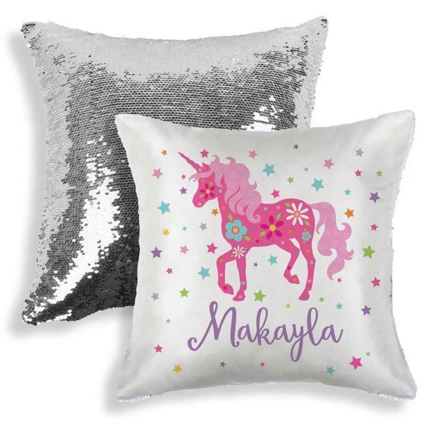 Personalized Sequin Pillow Unicorn Walmart Com Walmart Com