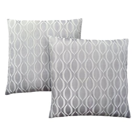 Speciality Patterns - Monarch Specialties Wave Pattern Decorative Pillow - Set of 2