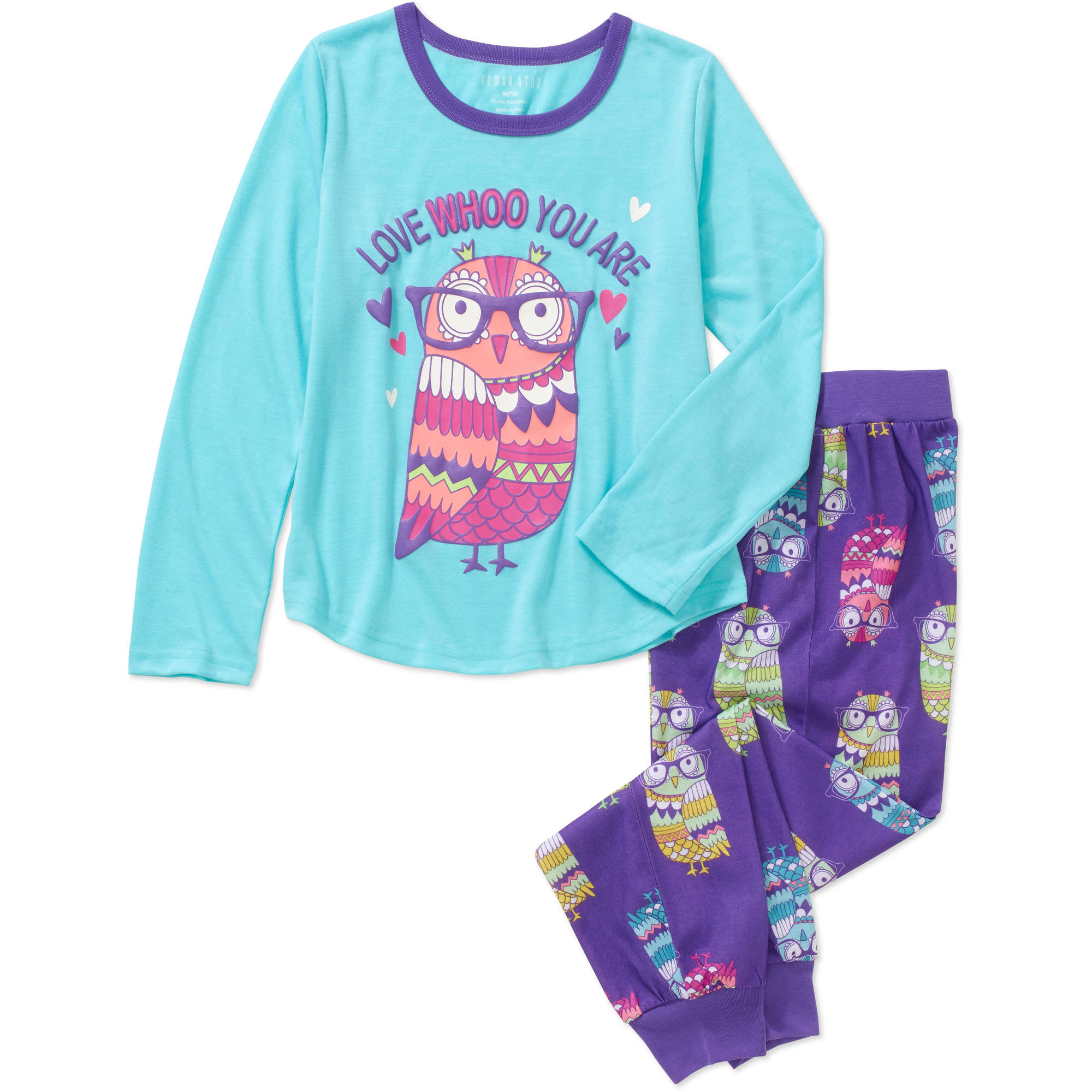 Girls' Graphic 2pc Sleepwear Jogger Set