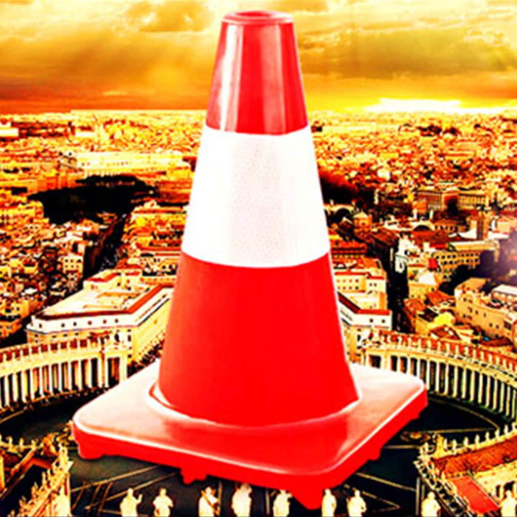 "28"" Orange PVC Non Reflective Traffic Safety Cone Parking Safety"