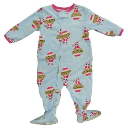 Carters Infant & Toddler Girls Christmas Monkey Sleeper Sleep & Play Pajamas (Toddler Monkey Pajamas)