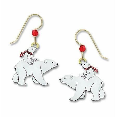 Spirit Bear Earrings - POLAR BEARS Hypo-Allergenic Earrings, Sterling Silver Plated, by Sienna Sky