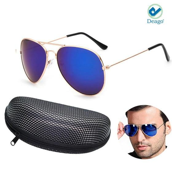 49107700cce Deago - Deago-Unisex Polarized Sunglasses Mirror Driving Aviator ...