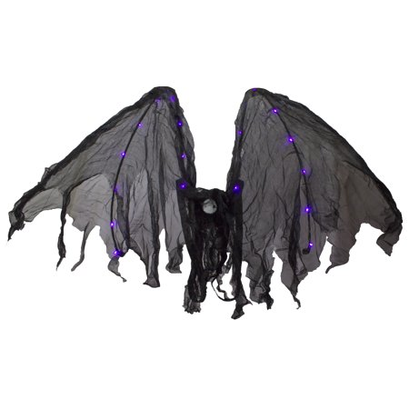 Halloween Costume Accessory - Light Up Bat Wings by Ganz, One size fits most (Cute Halloween Bat Drawings)
