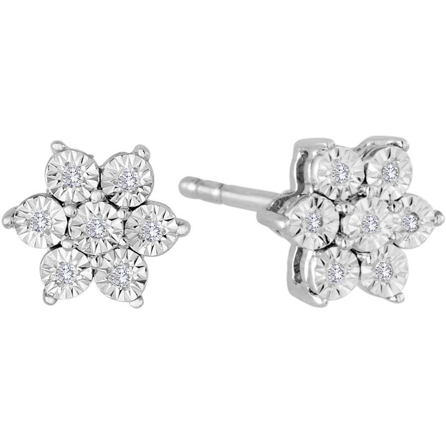 Diamond Wish 18k Gold Round Yellow Stud Earrings 4 G Basket 1 3 Cttw I1 I2 Push Back