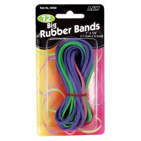 A & W A & W  Big Rubber Bands, 12 - Omega Rubber Band