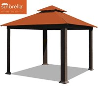 EliteShade 12x12 feet Sunbrella Titan Patio Outdoor Garden Backyard Gazebo (Sunbrella Rust)