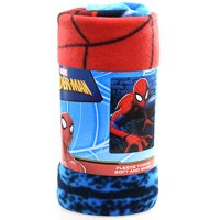 "Spiderman ""Web Lines"" 45x60"" Fleece Throw Blanket"