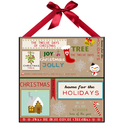 """""""Modern Holiday"""" Wall Plaque"""