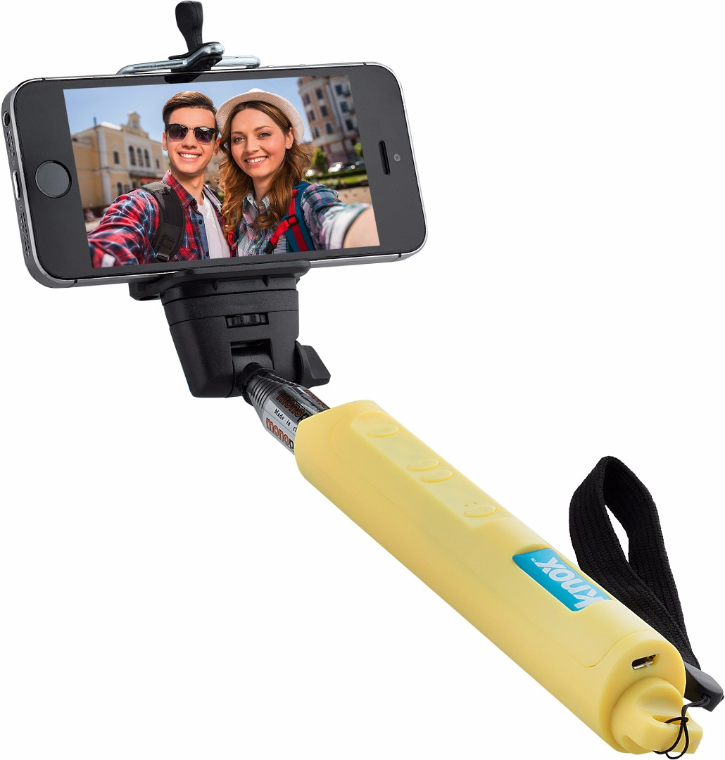 Knox Gear Bluetooth Selfie Stick w/ Zoom Function (Yellow)