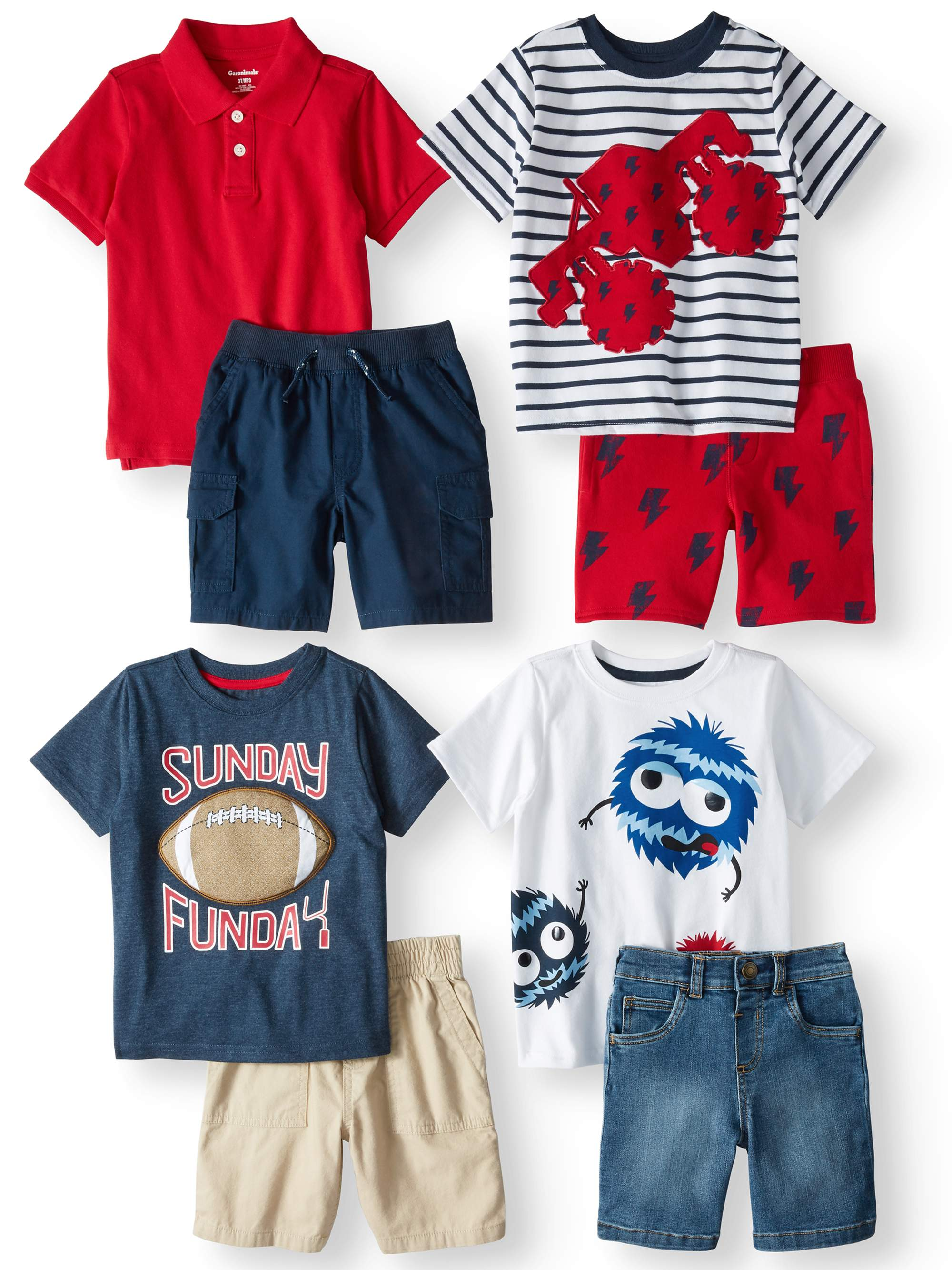 8a6fdaf05 Garanimals - Mix & Match Outfits Kid-Pack Gift Box, 8pc Set (Toddler Boys)  - Walmart.com