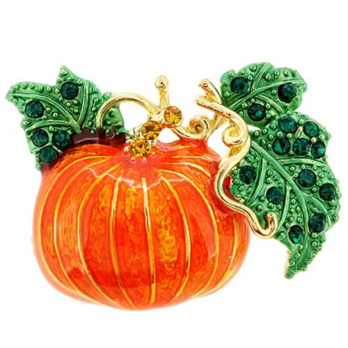 Fantasyard Enamel Pumpkin Halloween Pin Brooch by Overstock