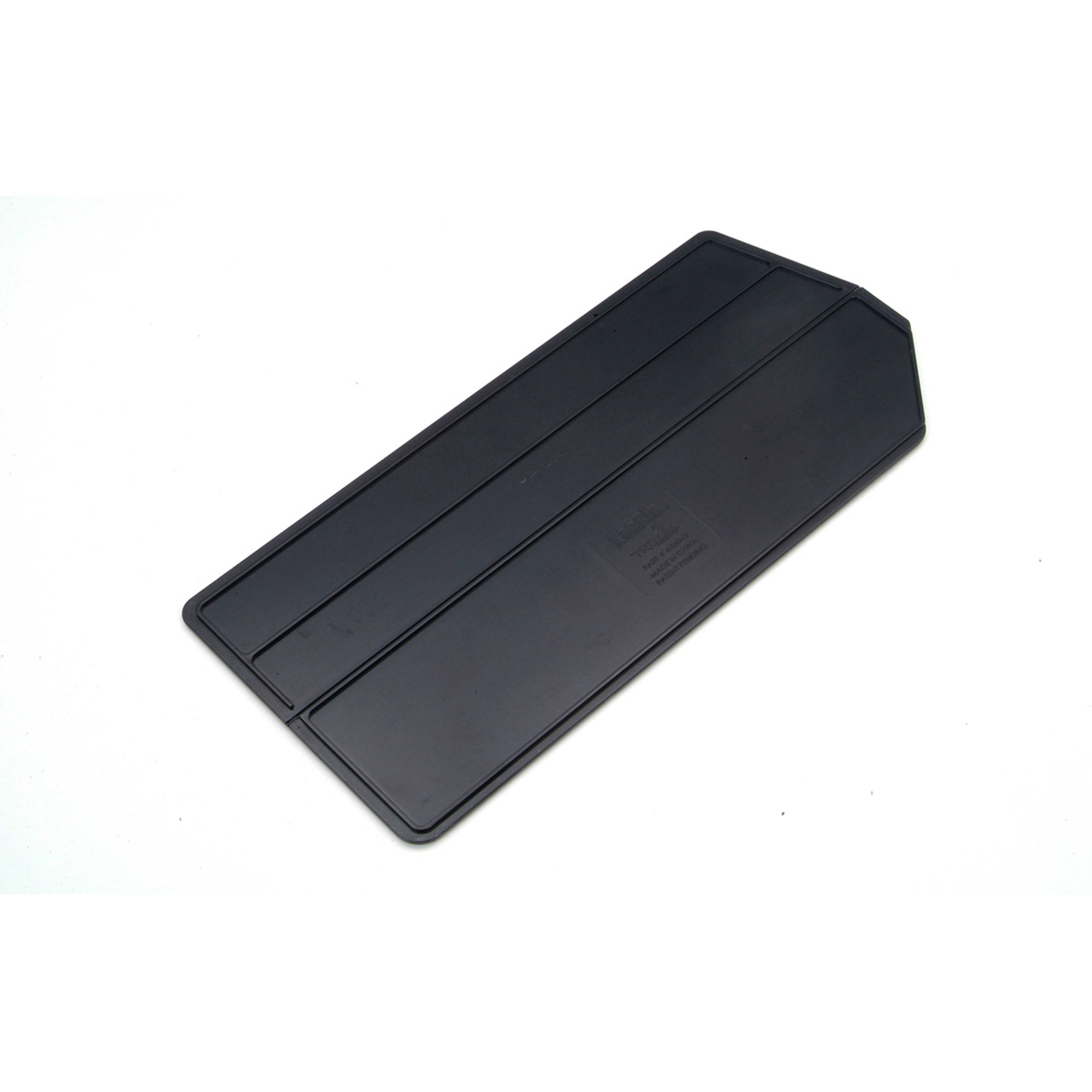 """LocBin 13-7/8""""L x 6-1/2""""W x 1/4""""H ABS Plastic Black Bin Dividers for 3-240 Bins, 6pk"""