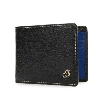 Multi Card Minimalist Slim Bifold Leather Men Travel Wallet Pocket Holder, Best Mens Wallets for Cash Money, ID, Credit