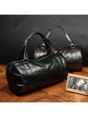 Product Image Bagail Men Large Leather Vintage Travel Gym Bag Weekend  Overnight Bag Duffle Handbag f0b751e06cd1e