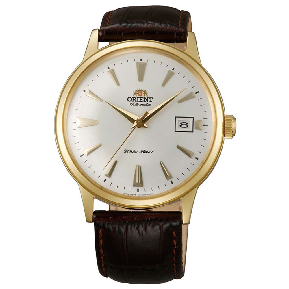 Orient ER24003W Men's Bambino Automatic White Dial Gold T...
