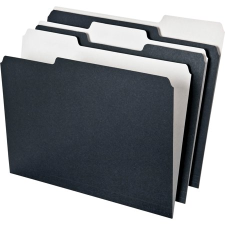 Black Blade Stainless Folder (Pendaflex, PFX16101, Earthwise 2-tone 1/3 Cut File Folders, 50 / Pack,)