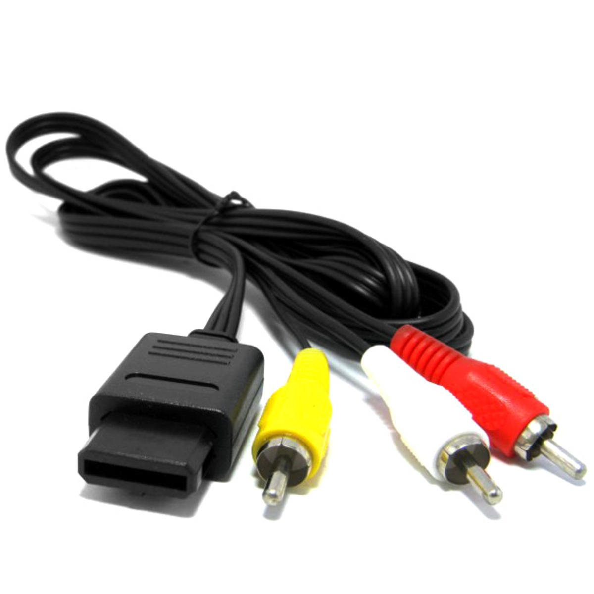Composite AV Cable for Nintendo Super Nintendo / SNES, GameCube, and Nintendo 64 / N64 by Mars Devices