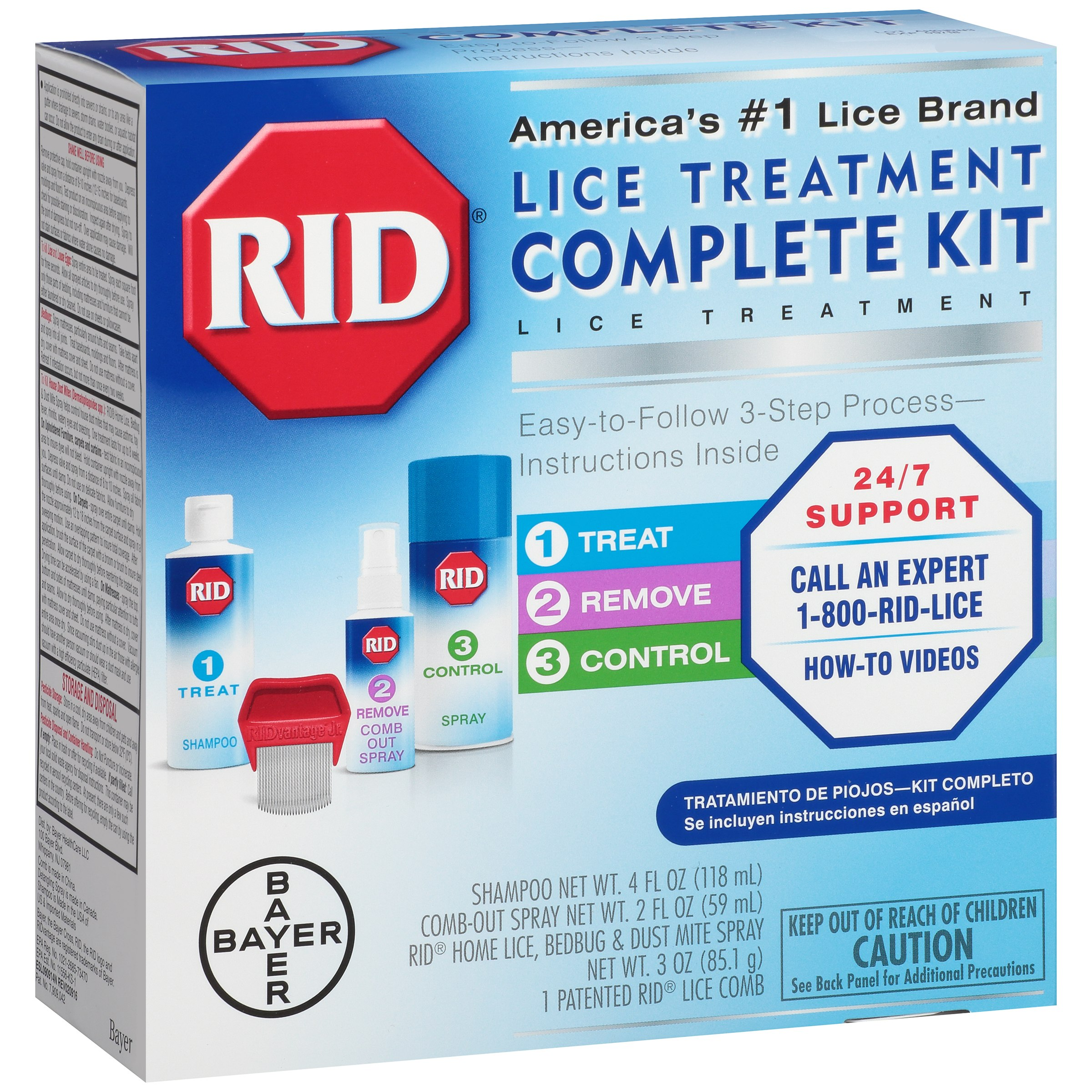RID® Complete Lice Treatment Kit 4 pc Box