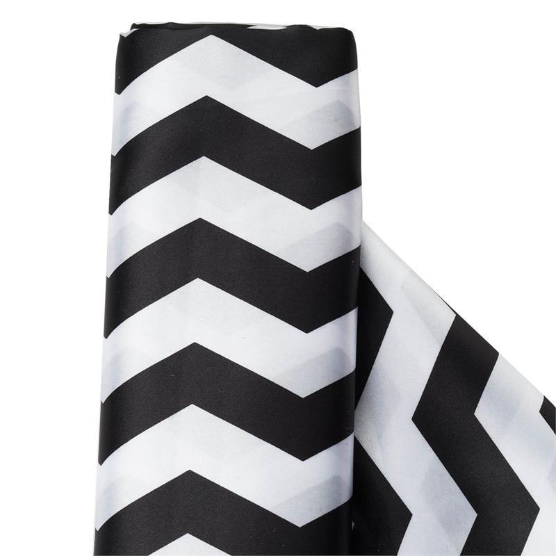 "BalsaCircle 54"" x 10 yards Chevron Satin Fabric Bolt Put-up - Sewing Crafts Draping Decorations Supplies"