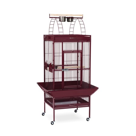 Prevue Select Wrought Iron Parrot Bird Cage 24X20x60    Garnet Red
