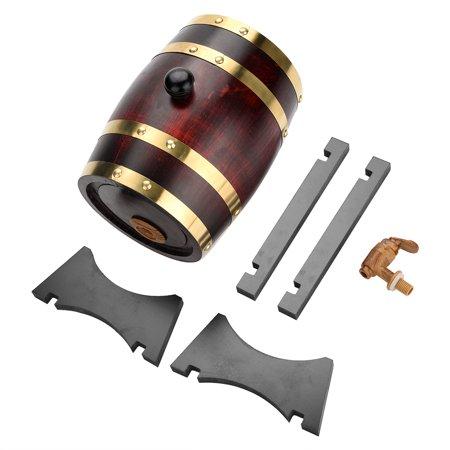 3L Vintage Oak Wood Wine Barrel for Beer Whiskey Rum (5 Gallon Oak Wine Barrels For Sale)