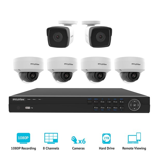 Laview 8 Channel Hd 1080p Nvr Security System W 2 Bullet