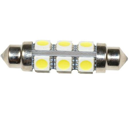 HQRP 360 deg 42mm Festoon 12 LEDs 5050SMD 2.88W 168 Lumen Bulb for 560 569 578 211 212 212-2 2122 214-2 2142 6413 6429 DE3021 DE3022 DE3175 DE3425 DE4410 12844 replacement + HQRP Coaster - image 3 of 4
