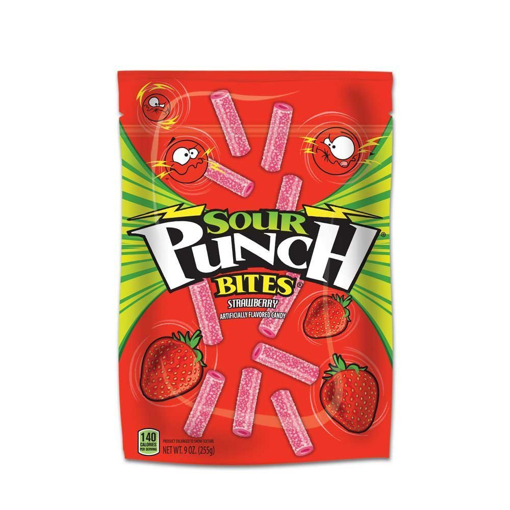 12 PACKS : Sour Punch Straw Bites Candy, 9 Ounce