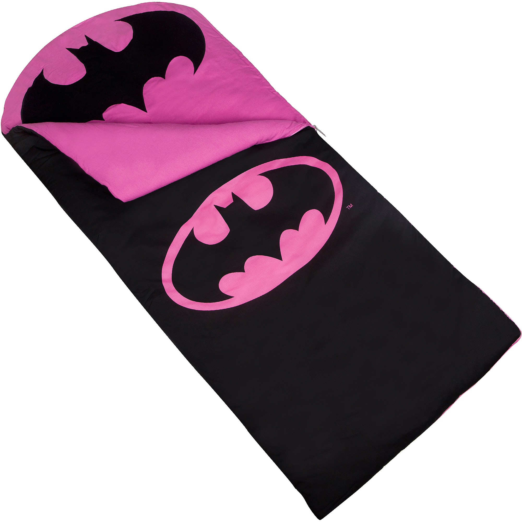 Wildkin Kids' Batman Emblem Sleeping Bag, Pink by Wildkin