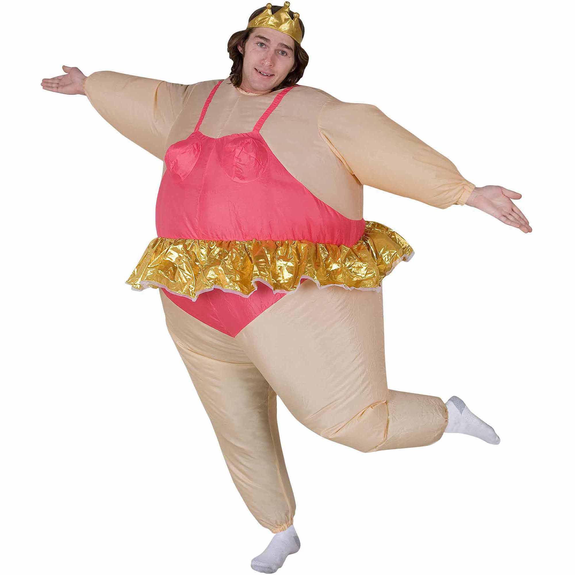 inflatable ballerina adult halloween costume walmartcom - Ballet Halloween Costume