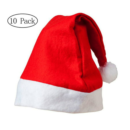 Merry Christmas Hat * Bulk Santa Hats * Pack of - Glitter Santa Hat