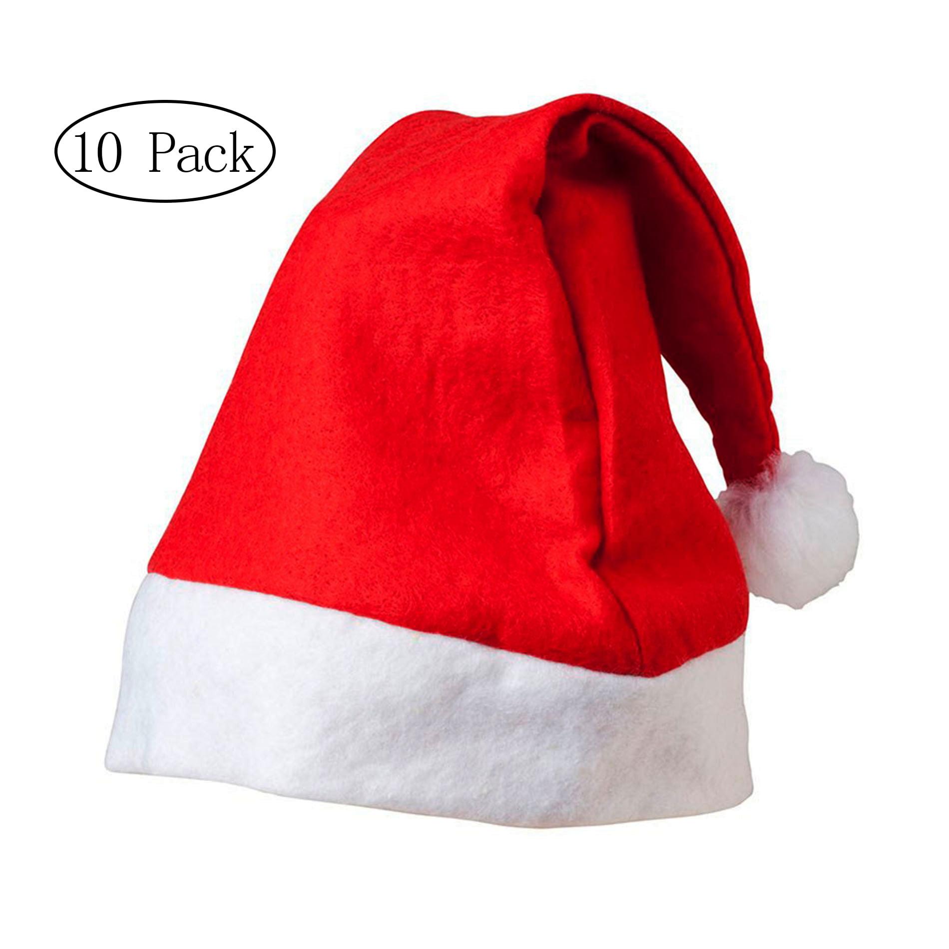Merry Christmas Hat * Bulk Santa Hats * Pack of 10