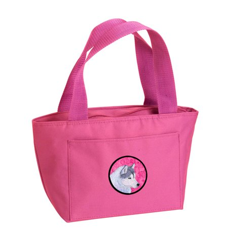 Pink Siberian Husky Lunch Bag or Doggie Bag SS4740-PK