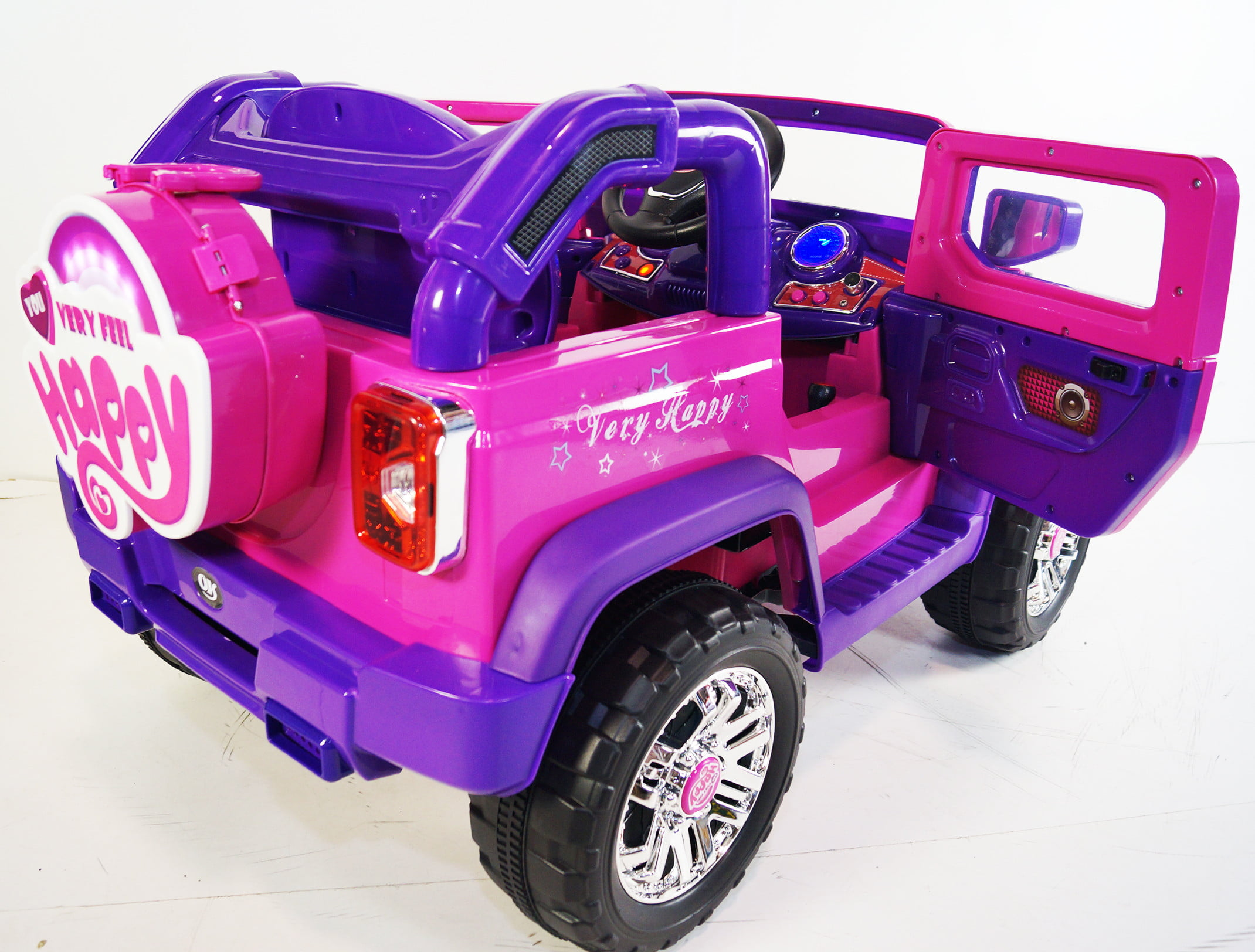Upgraded Jeep Wrangler Style 12v Ride on Car for Kids with Remote ...