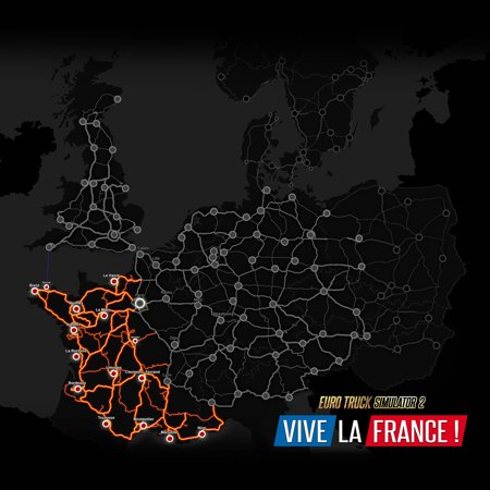 Euro Truck Simulator 2 - Vive La France (PC) (Digital (Best Controller For Euro Truck Simulator 2)