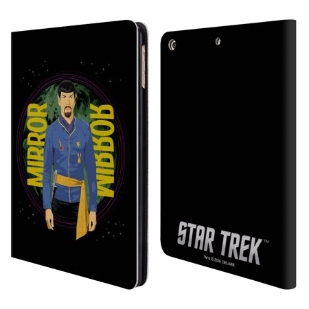 OFFICIAL STAR TREK ICONIC CHARACTERS TOS LEATHER BOOK WALLET CASE COVER FOR APPLE IPAD