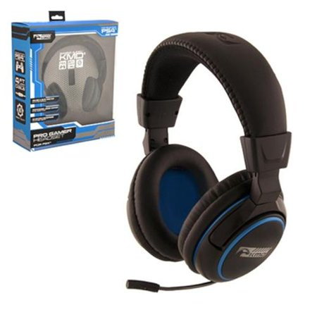 Playstation 4 Headset With Mic KMD Wired Professional Gaming Headset With Microphone For Sony PS4 PlayStation 4 Black (Best Sony Ps4 Headset)
