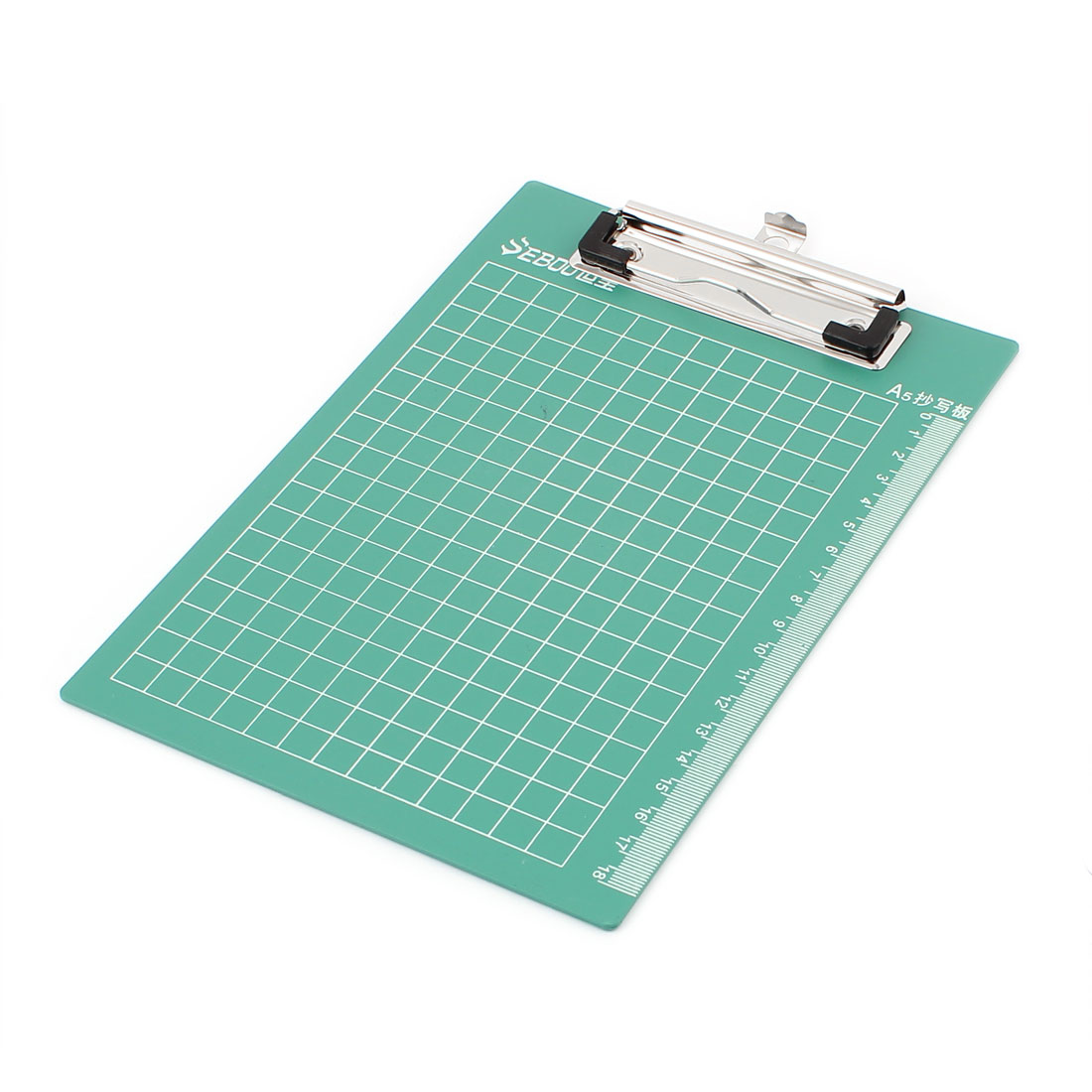 Unique Bargains Officemate Grid Printed Clipboard File Clip Board Paper Holder Green