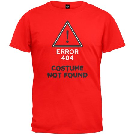 Halloween Error Costume Not Found T-Shirt - How Was Halloween Founded