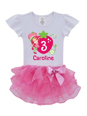 534028e1cbabc Product Image Personalized Strawberry Shortcake Birthday Toddler Pink Tutu  Shirt, 2T, 3T, 4T, 5