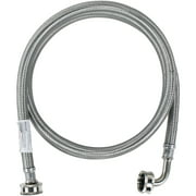 Certified Appliance Accessories WM60SSL Braided Stainless Steel Washing Machine Hose with Elbow, 5ft