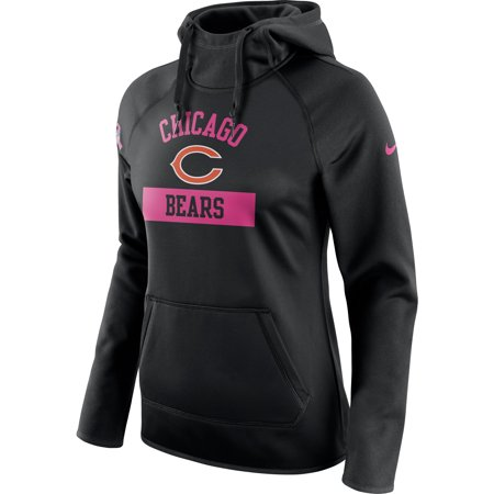 Chicago Bears Nike Women's Breast Cancer Awareness Circuit Performance Pullover Hoodie - Black - (Womens Nike Breast)