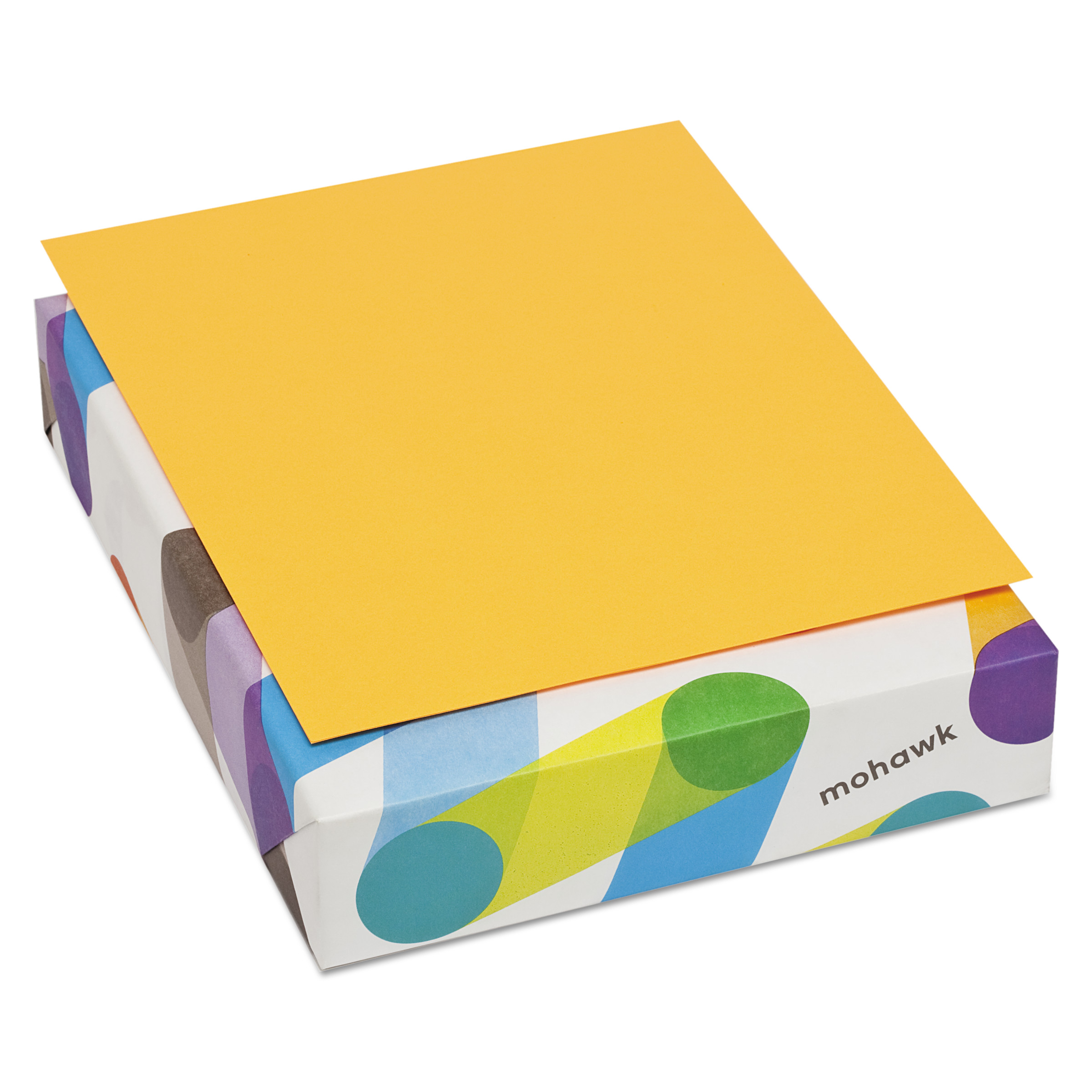 Mohawk BriteHue Multipurpose Colored Paper, 24lb, 8 1/2 x 11, Ultra Orange, 500 Sheets -MOW102442