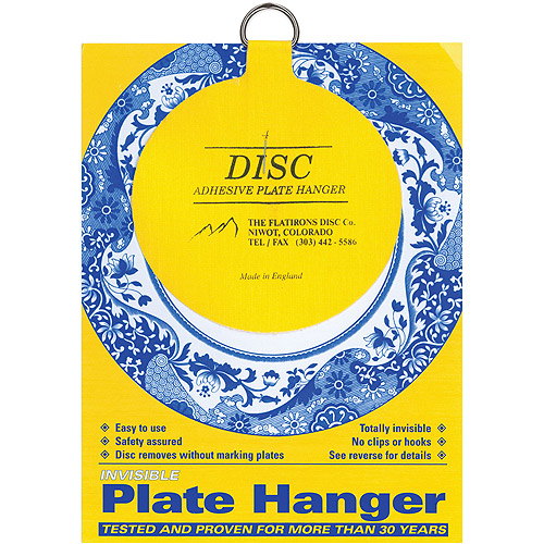 "Flatiron Disc Invisible Plate Hanger 4"", For Plates Up To 12"" (300mm) Diameter"