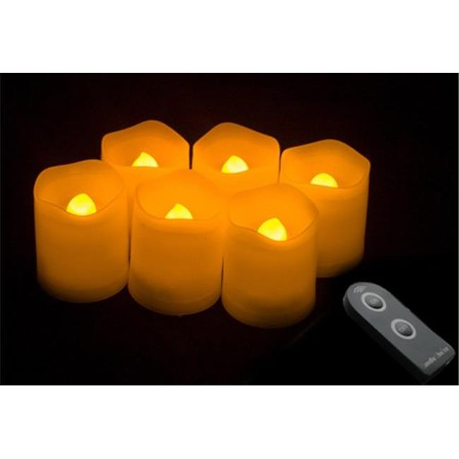 Candle Choice D38R-P1519MI-6 Ivory Plastic Cover Simple Remote Control LED Amber-Color... by Candle Choice