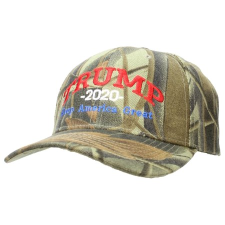 99299130f363 Tropic Hats Adult Embroidered Trump 2020 Keep America Great Campaign Cap -  Hardwoods Camo W RWB Thread