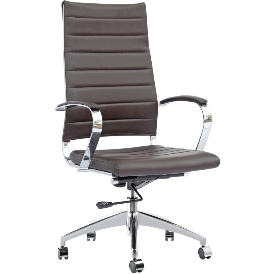 Fine Mod Imports Sopada Conference Office Chair High Back, Dark Brown