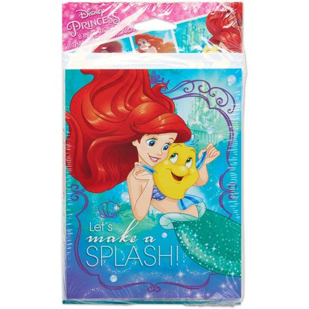 The Little Mermaid Invite and Thank-You Combo Pack, 8 Count, Party Supplies