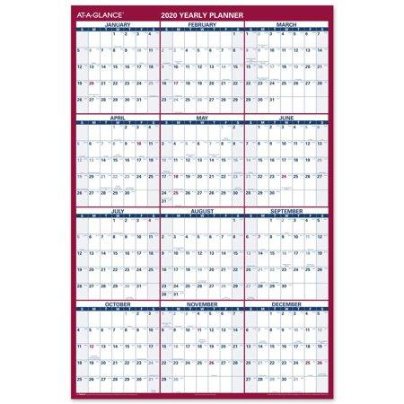 AT-A-GLANCE 2020 Erasable Wall Calendar, 48